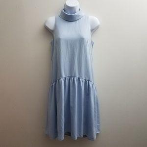 Eliza J Shift Dress 2 Blue Drop Waist Sleeveless